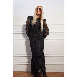 H&M长款蕾丝连衣裙