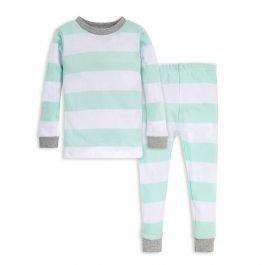 婴童有机棉连体包脚睡衣