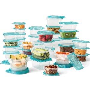 $9.96Mainstays 塑料食品保鲜盒 92件套 不含BPA 可放微波炉