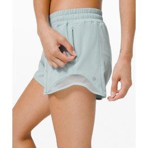 LululemonHotty 薄荷色短裤 4