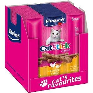 首单8折!平均仅€0.19/条猫咪零食棒 共60个