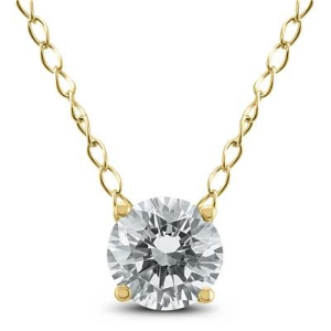 $188 + Free ShippingDealmoon Exclusive: 1/3 Carat Floating Round Diamond Solitaire Necklace in 14K Yellow Gold