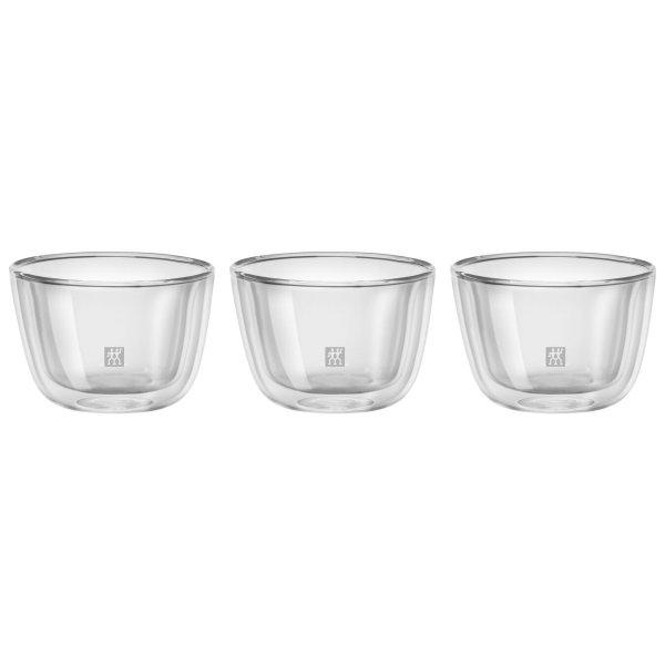 双壁玻璃碗3件套