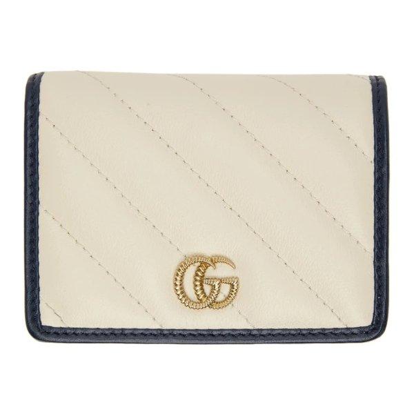 GG Marmont 白色卡包
