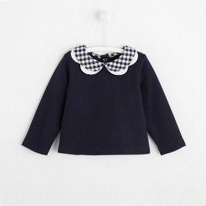 JacadiToddler girl sweatshirt with double petal collar