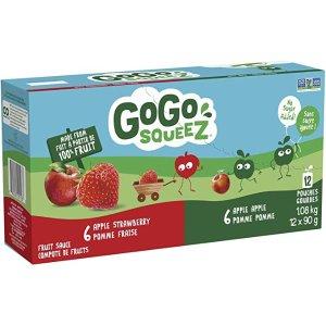 苹果草莓味Go Go squeeZ 纯鲜果泥