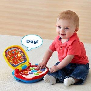 低至4折 学习电脑$9.43起史低价:VTech 宝宝早教玩具电脑 便携学习玩具 115种歌曲短语