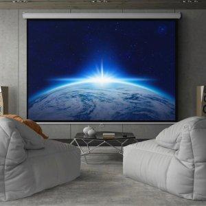 白色 119英寸 高清下拉手动投影仪屏幕