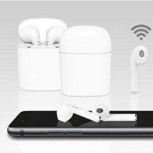 走路不用担心卡到耳机线Apple手机兼容蓝牙耳机+充电盒 £14.99热卖