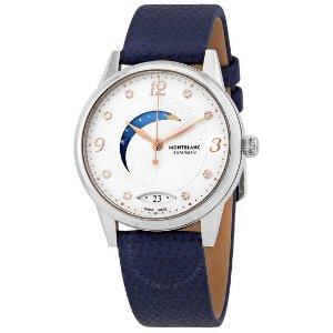 MontblancBoheme Automatic Moon Phase Diamond White Dial Ladies Watch 119935