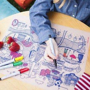 8折+无税Modern-Twist 儿童彩绘餐垫特卖 画板+餐垫2合1