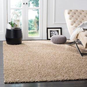 $85.59(原价$486)闪购:Safavieh 驼色地毯 6尺x9尺