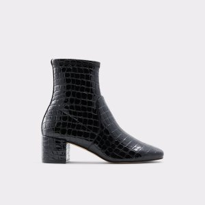AldoMyaii Black Synthetic Croco Women's Ankle boots | ALDO US