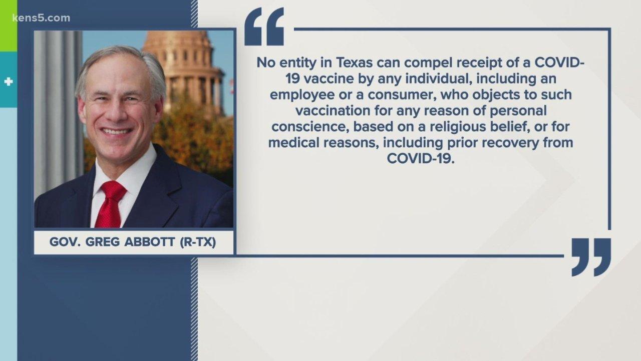 德州州长发布行政令,禁止任何实体强制接种新冠疫苗