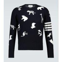 动物印花毛衣