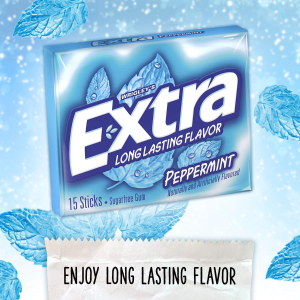 $6.24 + Free ShippingExtra Peppermint Sugarfree Gum 15 Count (Pack of 10)