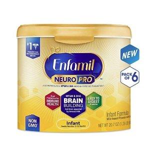 低至8.5折+额外9.5折+包邮Enfamil 婴儿配方奶粉特卖,收最新版NeuroPro