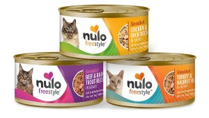 Nulo Freestyle Shredded Chicken & Duck, Shredded Beef & Rainbow Trout, Shredded Turkey & Halibut Grain-Free Variety Pack Canned Cat Food, 3-oz, case of 12 - Chewy.com