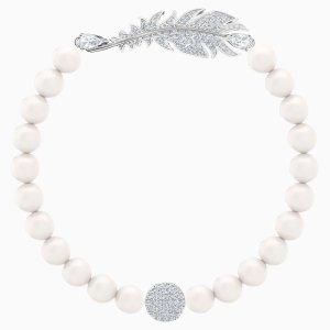 Swarovski羽毛珍珠手链