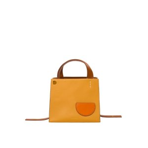 Danse LenteMargot Square Sand Leather Bag by Danse Lente
