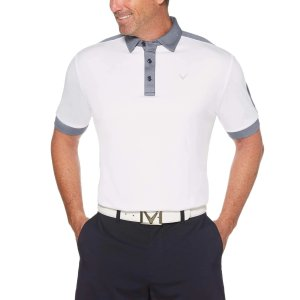 CallawayMens Birdseye Color Block Polo