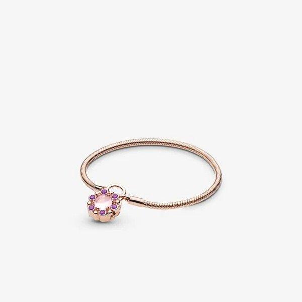 玫瑰金挂锁纹章手链