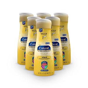 $40.50美赞臣Enfamil PREMIUM Non-GMO 婴儿水奶,32oz大瓶装,共6瓶