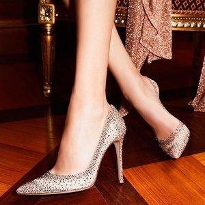 低至5折   高跟鞋£294GIANVITO ROSSI 全场惊喜大促 折上折 超仙美鞋等你来