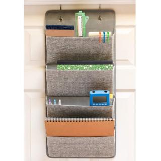 Elegant Wonders 4 Pocket Fabric Wall Organizer