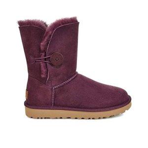 紫色款白菜预售价$67.98UGG 女士经典纽扣款雪地靴  6码