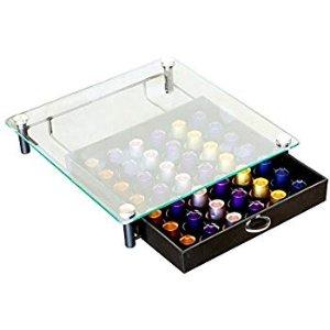 Amazon.com: DecoBros Crystal Tempered Glass Nespresso OriginalLine Storage Drawer Holder for Capsules: Kitchen & Dining