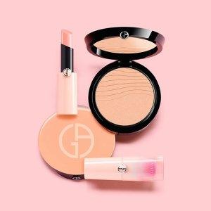 $38起+免邮 绝美樱花粉上新:Giorgio Armani 粉色Neo Nude系列 唇膏、粉饼等