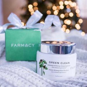 无门槛7折 £30收圣诞超值装Farmacy 绿茶卸妆膏大促 清爽干净不油腻