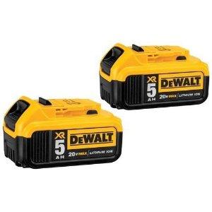 DEWALT DCB205 20V MAX XR 5.0Ah Lithium Ion Battery-Pack (2 Pack)