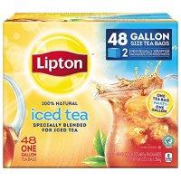Lipton 无糖冰红茶茶包1加仑家庭装 48袋装