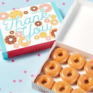 送1打甜甜圈+免费礼盒包装Krispy Kreme 感恩周活动 下单1打任意口味甜甜圈