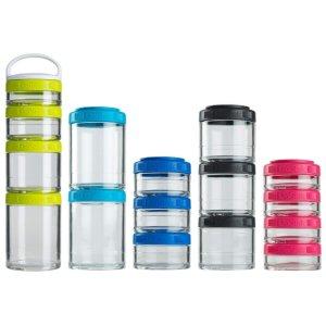 BlenderBottle C02504 GoStak Twist n' Lock Storage Jars, 4-Piece Starter Pak