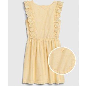 Gap女童 淡黄色无袖连衣裙