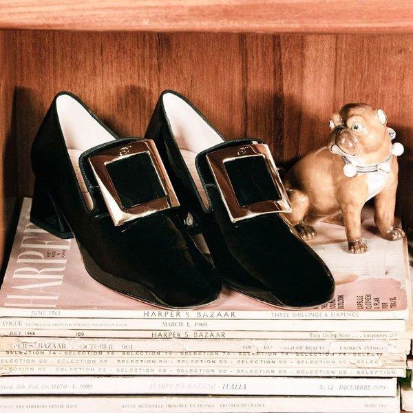 - Tres Vivier 方扣乐福鞋
