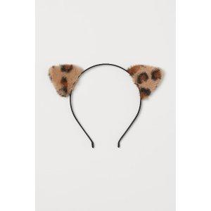 H&M豹纹耳朵头饰