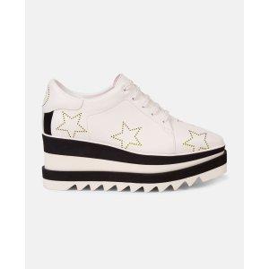 Stella McCartney白色厚底鞋