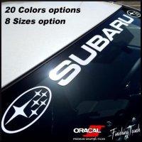 Subaru 玻璃窗拉花