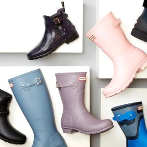 低至5折 $79收Baby Blue经典雨靴Hunter 防水鞋靴闪购热卖,超多配色型号可选