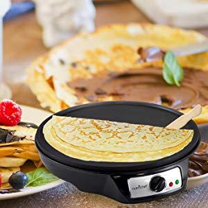 $39.99(原价$70)NutriChef 12英寸不粘摊煎饼炉(包括木制煎饼刮板)