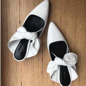 最高直减$300 变相7.5折The Row 女士鞋履热卖  收经典小猫跟蝴蝶结穆勒鞋