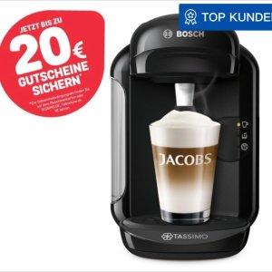 Bosch Tassimo Vivy2 最新版 全自动胶囊咖啡机只要19欧还送€20咖啡代金券