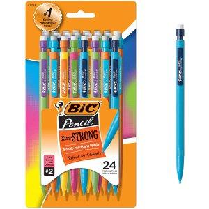 $5.97 合$0.29/支BIC 自动铅笔 0.9mm 24支套装 2号0.5mm铅芯流畅耐用