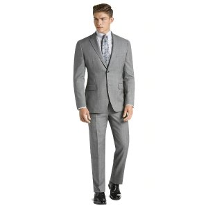 Traveler Collection Tailored Fit Sharkskin Windowpane Suit CLEARANCE - All Clearance | Jos A Bank