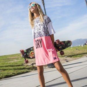 低至5折+免邮 舒适休闲简约风Superdry 精选短袖裙、衬衣裙热卖