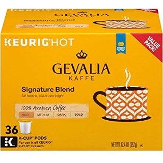 $13.59 一颗只需$0.45闪购:Gevalia 招牌中度烘焙咖啡 K-cup胶囊咖啡 36粒